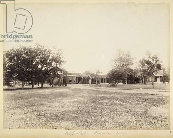 U.S. Club, Bangalore, 1902 (b/w photo)