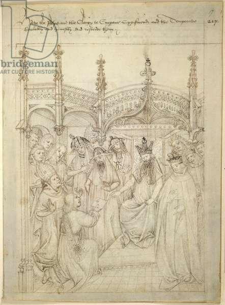 Cotton Julius E. IV, art. 6, The 'Beauchamp Pageants', c.1483 (ink on vellum)