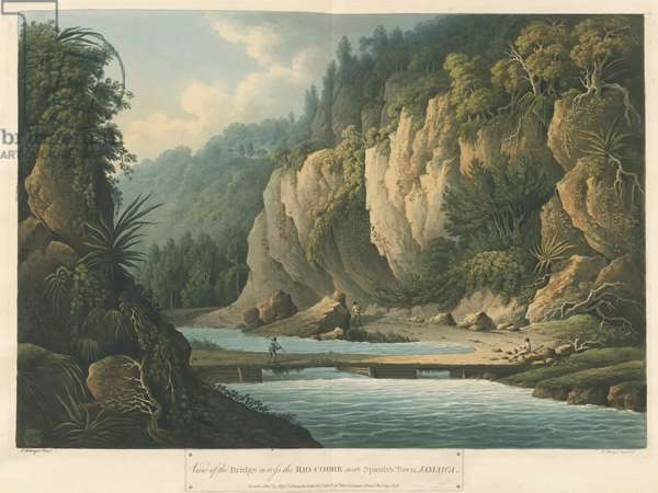 The Rio Cobre, from Six Views in the Island of Jamaica, lithograph by I. Merigot, 1800 (colour litho)