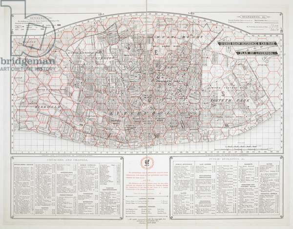 A cab-fare map of Liverpool which used a system of hexagons to enable distances- and fares- to be calculated