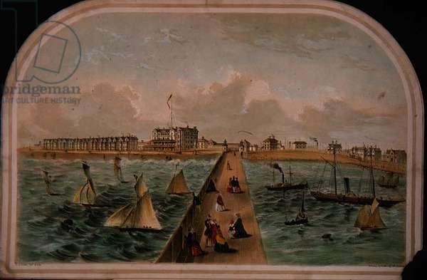 The Marine Esplanade, Lowestoft, Suffolk, print by E.H.Buckler, c.1790