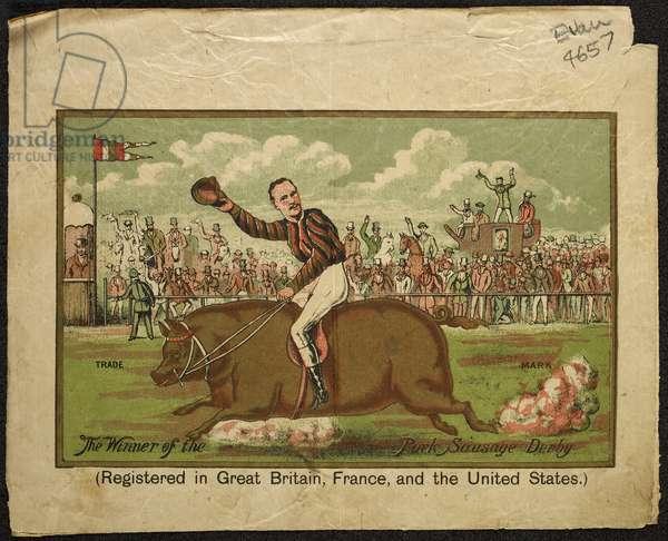 The winner of the Pork Sausage Derby, 1889