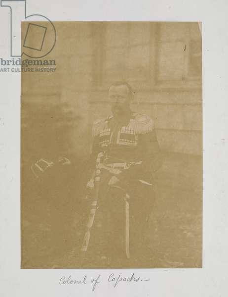 Colonel of Cossacks, c.1855-56 (b/w photo)