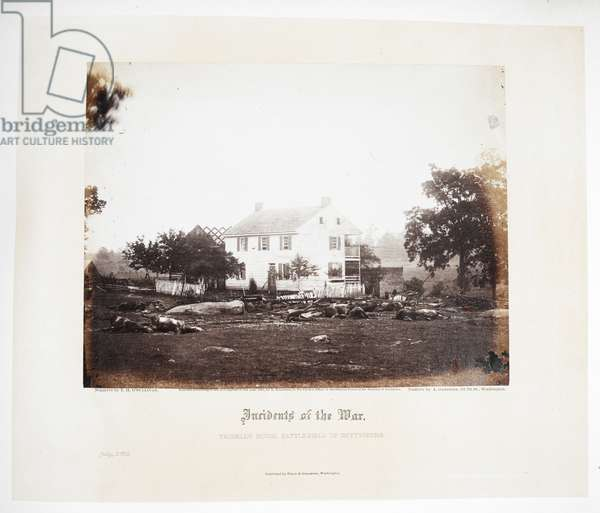 Trosell's house, battlefield of Gettysburg (July 1863)