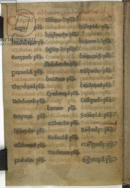List of abbots