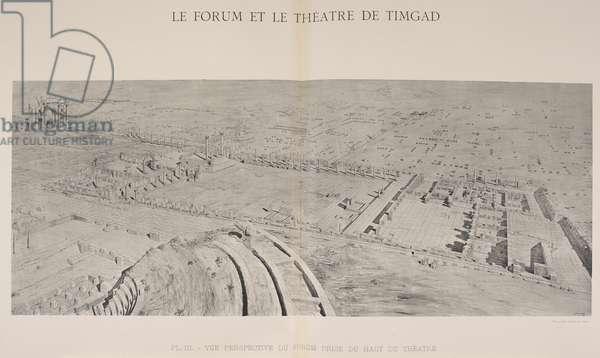 Le forum et le theatre de Timgad