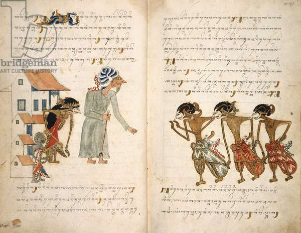The Story of Selarasa, IOL MSS JAV 28, ff.13v-14r, 1804 (ink on vellum)