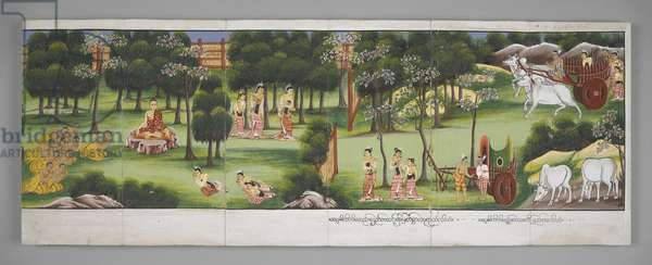 Or. 13534, f.7, Scenes from the Life of Buddha (parchment)