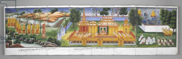 Or. 13534, f.30 Palace scene, Scenes from the Life of Buddha (parchment)