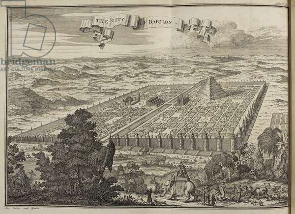 The City of Babylon, 1745 (engraving)