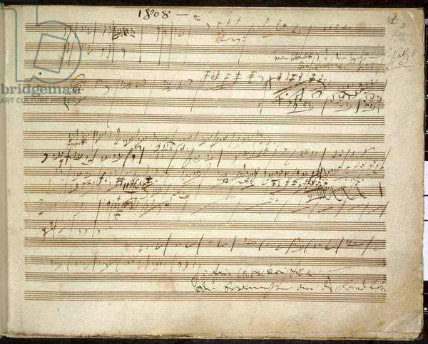 Add. 31766, f.2 Symphony No. 6 in F major, Op. 68 also known as the Pastoral Symphony (ink on paper)