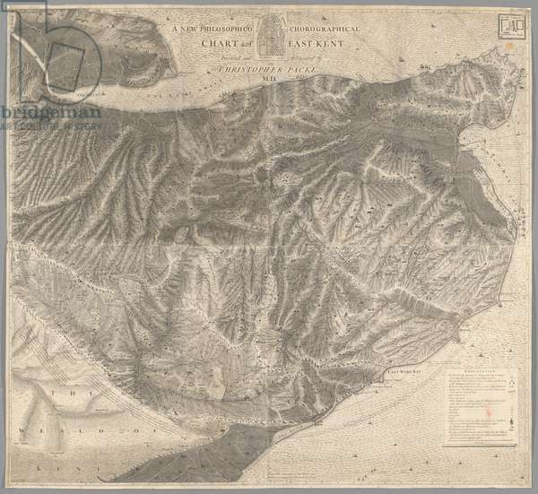 A New Philosophico chorographical chart of East-Kent, 1743 (engraving)