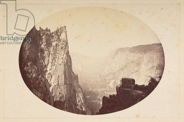 Yosemite Valley, 1865-70 (b/w photo)