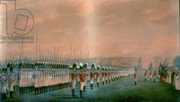 Presentation of Colours to the Second Regiment of Royal East India Volunteers at Lord's Cricket Ground, London, 1797 (w/c on paper)