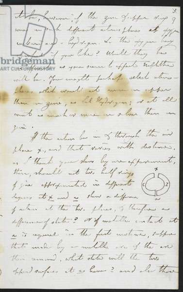 Add.48983 f.9 Faraday's telegraphy letter to William Thomson, 1859 (ink on paper)