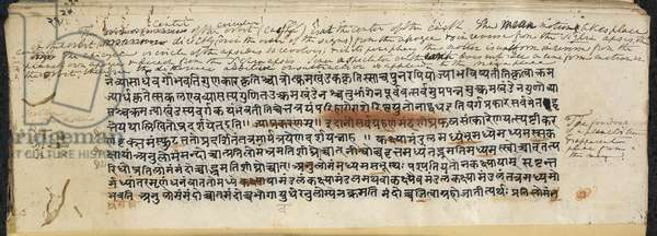 Text from the 'Brāhmasphuṭasiddhānta', c.628 (ink on paper)
