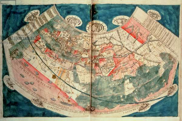 Map of the World based on a description by Ptolemaeus (w/c)