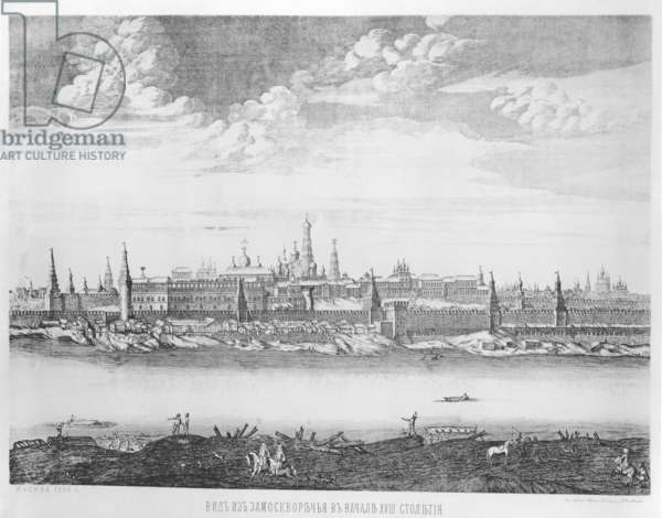 Moscow, plate 19 from 'Views of Palaces, Churches and Buildings', 1886 (engraving)