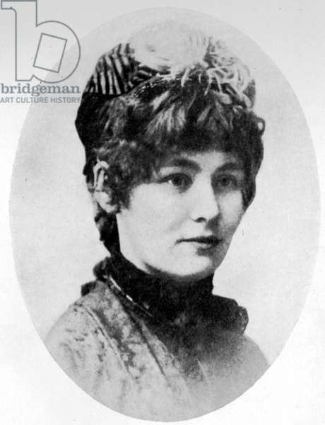 "Portrait d'Emmeline Pankhurst (1858-1928), fondatrice du mouvement des suffragettes. 1879. Photographie tiree de """"The Suffragette Movement. An intimate account of persons and ideals""""par Sylvia Pankhurst, 1931 The British Library Institution Reference: 324.3 *6577* Portrait of Emmeline Pankhurst, 1879. From """"The Suffragette Movement. An intimate account of persons and ideals"""" by E Sylvia Pankhurst. [1931]."