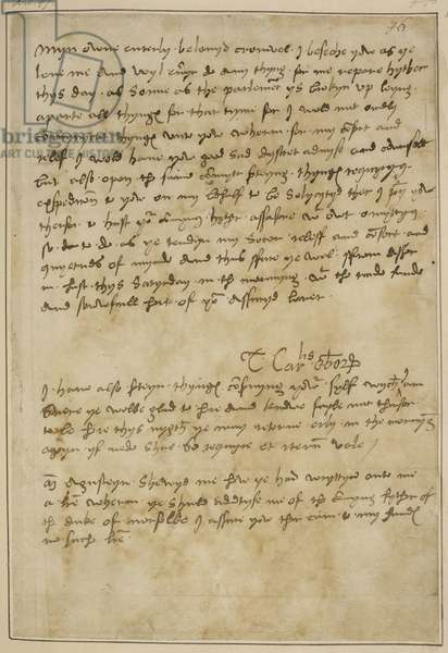 Letter from Thomas Wolsey in distress to Thomas Cromwell