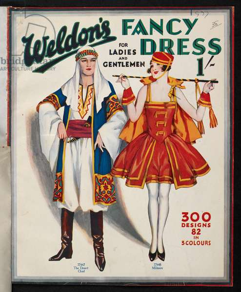 Front cover, from The desert chief and Militaire, Weldon's fancy dress for ladies and gentlemen, 1927 (colour litho)