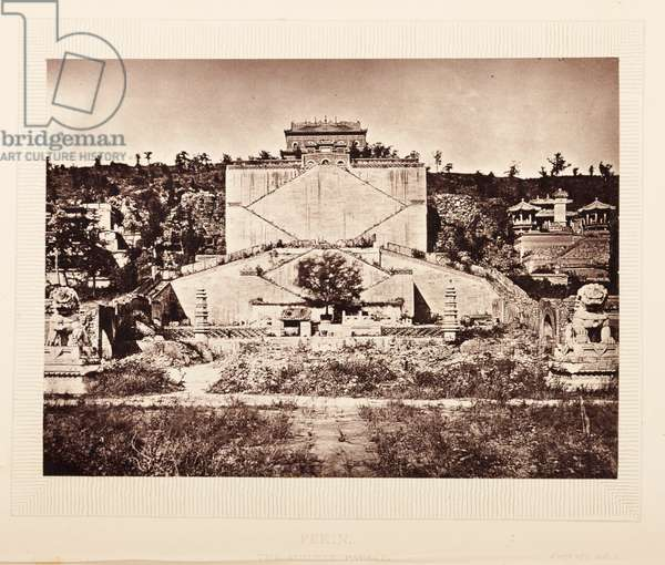 Plate opposite 273. The summer palace, Pekin, from 'The Rambles of a Globe Trotter in Australia, Japan, China, Java, India, and Cashmere', by  Egerton K Laird, 1875 (b/w photo)