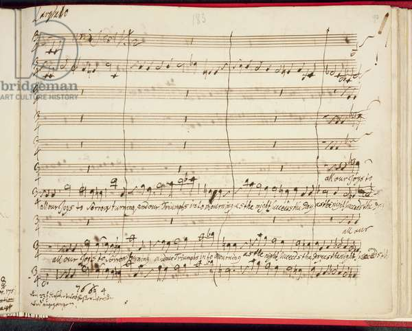 Original Score for Handel's Last Oratorio, Jephtha