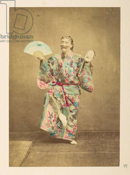 [Japanese] Actor,  Photographer: Unknown, Lucas Collection: Photographic record of the world tour of Charles James and Morton P,  Lucas, 1877-79,
