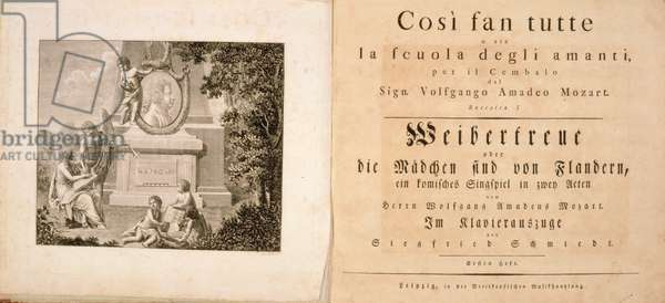 "Frontispiece to ""Cosi Fan Tutte"" by Mozart with memorial portrait"