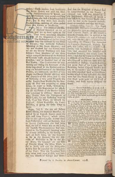 The London Gazette, issue 5655, page 2, 28th June 1718 (print)