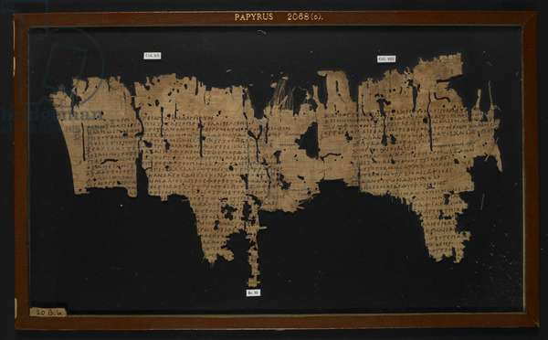 Papyrus 2068 (5) Sophocles' Ichneutae (Trackers)