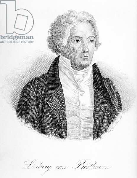 Ludwig van Beethoven (1770-1827) engraved by Freidrich Randel (1808-86) (engraving)