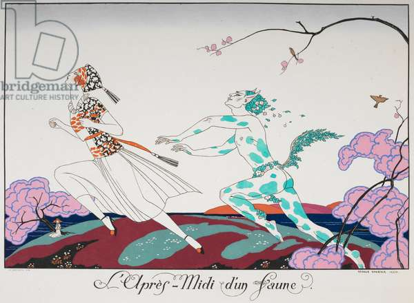 L'apres - midi d'un faune. A woman being chased by a faun, 1920