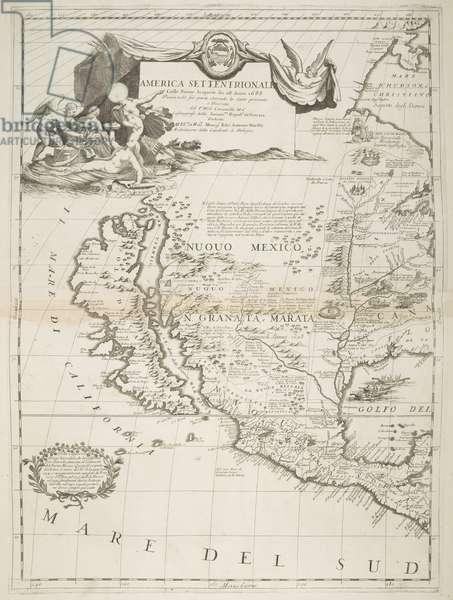 America Settentrionale, by M. Vicenzo Coronelli, 1688 (engraving)