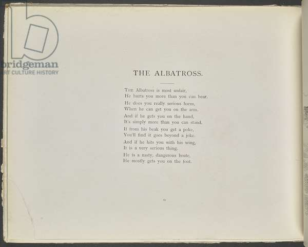 A poem: The albatross.