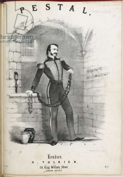 Title page showing a soldier in chains in a prison cell.