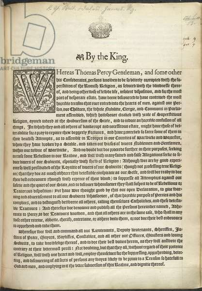 A Proclamation of 1605