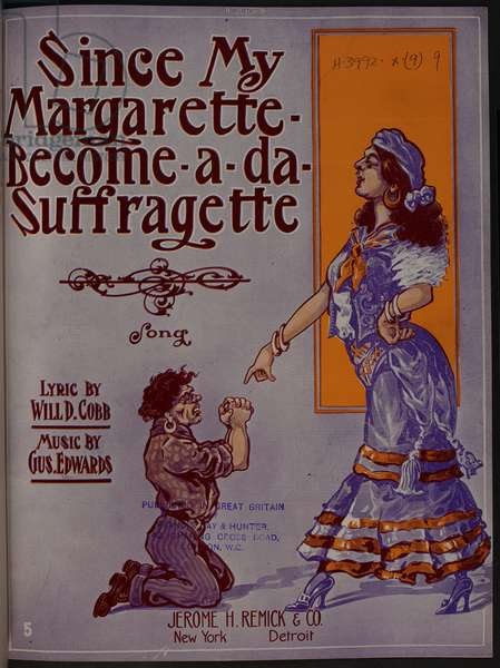 Music cover on the subject of Suffragism.