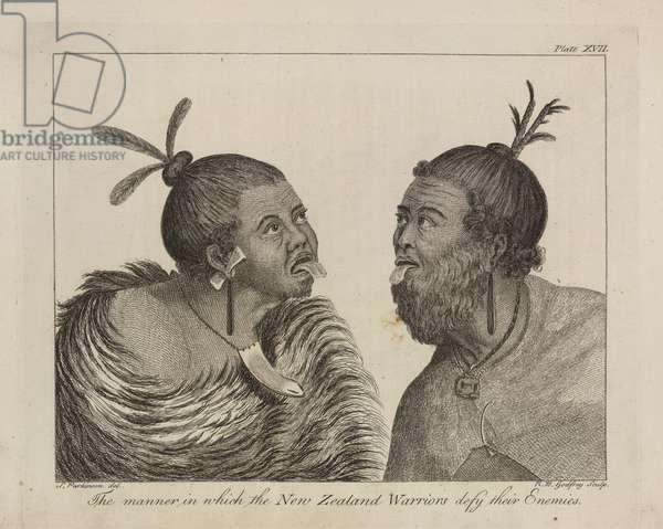 L.R.294.c.7,plate XVII  New Zealand warriors, 1769