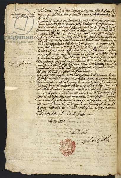 Egerton MS 48 f.10 Letter, 1612 (ink on paper)