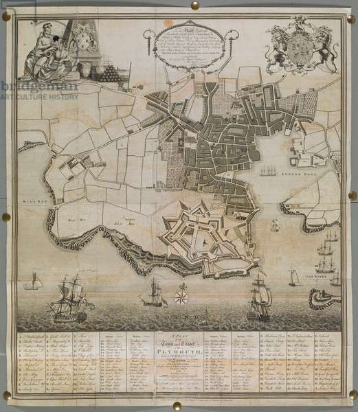 A Plan of the Town and Citadel of Plymouth, 1780 (engraving)