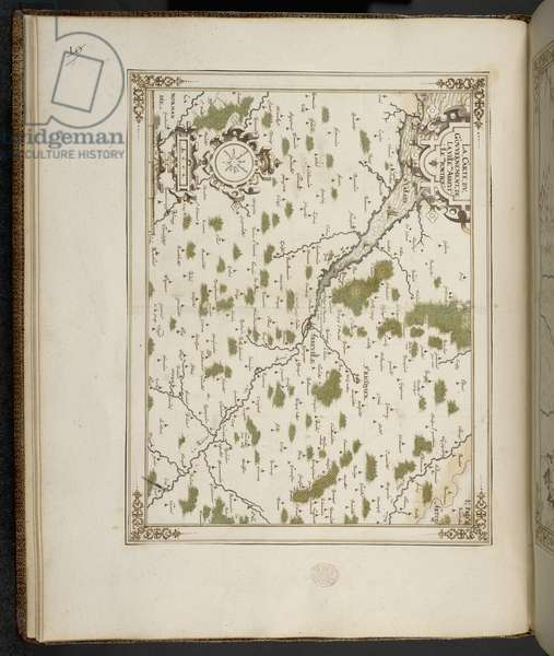 Add MS 21117 f.7v Abbeville, France, from 'Maps, plans and views, of towns and fortresses in France' by François Martilleur for Maximilien de Béthune, 1st Duke of Sully, 1602-08 (engraving)