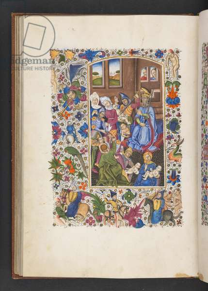 Add MS 50004 f.53v Massacre of the Innocents, from a 'Book of Hours' (ink, colour & gold on vellum)