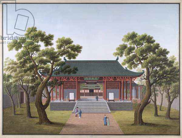 Honam Temple - Gateway to Precepts of Religion, 1800-05 (opaque w/c on paper)