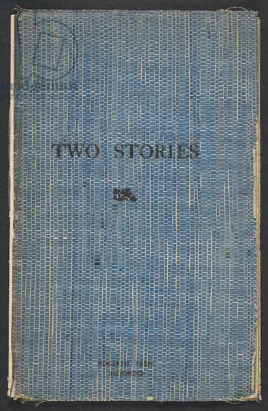 Front Cover of 'Two Stories' Written and printed by Virginia Woolf and L. S. Woolf, 1917 (litho)