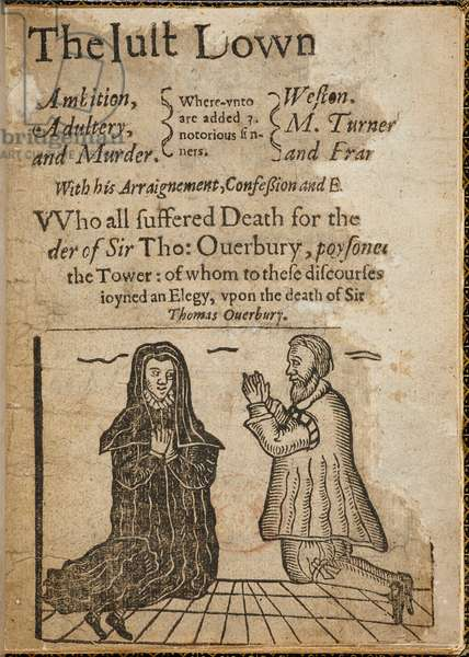 Woodcut on the subject of the murder of Sir Thomas Overbury.