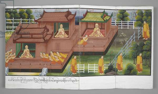 Or. 13534, f.25 Scenes from the Life of Buddha (parchment)