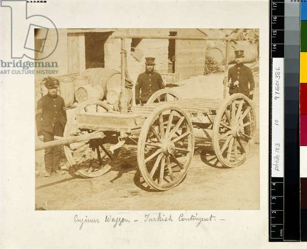 An Engineer's Wagon of the Turkish Contingent during the Crimean War, c.1855-56 (b/w photo)