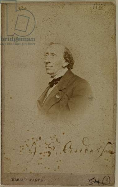 Signed photograph of Hans Christian Andersen