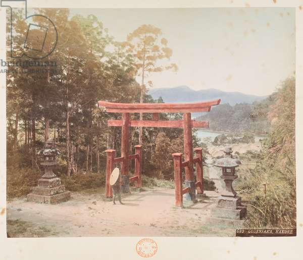 Gogensaka, Hakone, A Book of Coloured Photographs of views in Japan, 1895 (coloured photo)